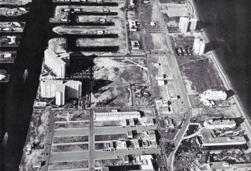 1963 Aerial View of Coral Ridge Towers Apartments Complexes